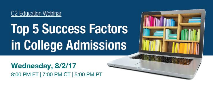 Top 5 Success Factors in College Admissions